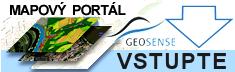 Vstup na mapový portál Geosense